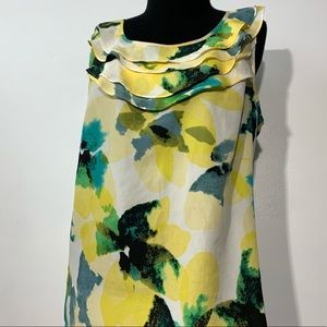 The Limited  bright floral sleeveless blouse